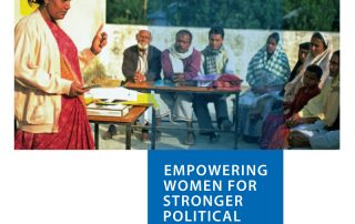 Empowering Women for Stronger Political Parties (2012) – http://www.undp.org/content/undp/en/home/librarypage/womens-empowerment/empower-women-political-parties.html